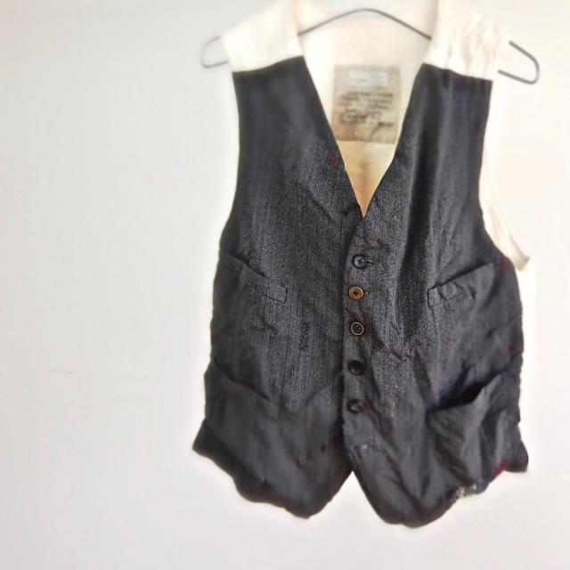 1930-1940 Vintage  Herringbone French Waistcoat