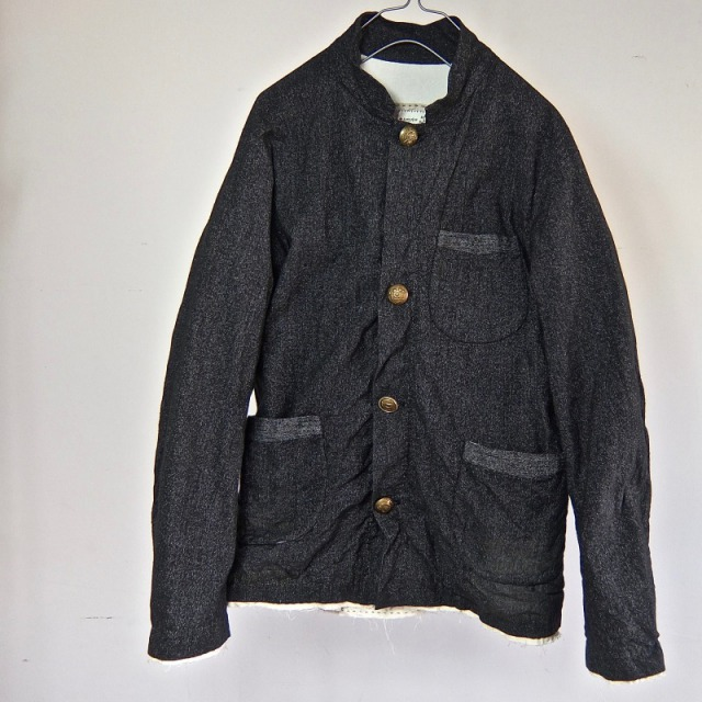 1930-1940 Vintage  Salt & Pepper French Work Jacket