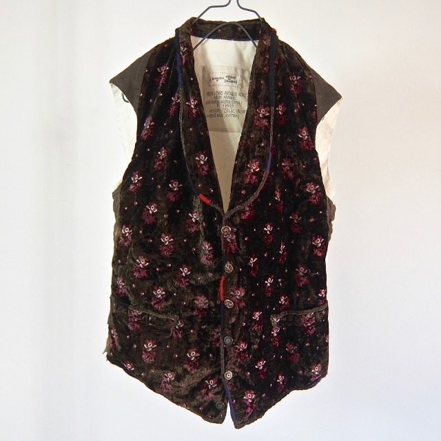 Antique  Silk Velvet Gilet