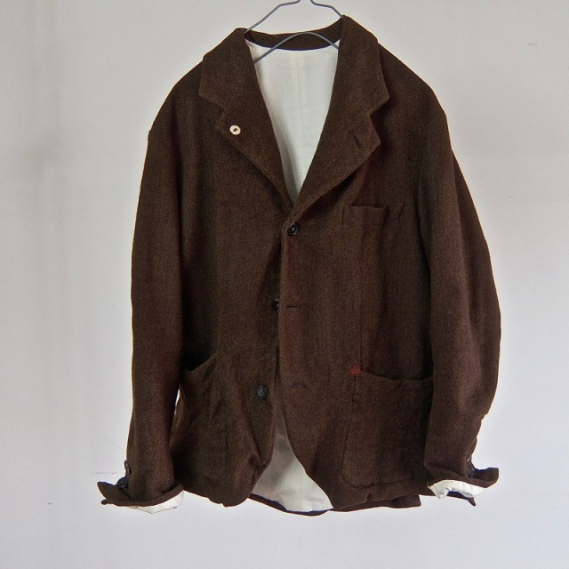 1950-1960 Vintage ALTERATION Tailor-Made Herringbone Jacket