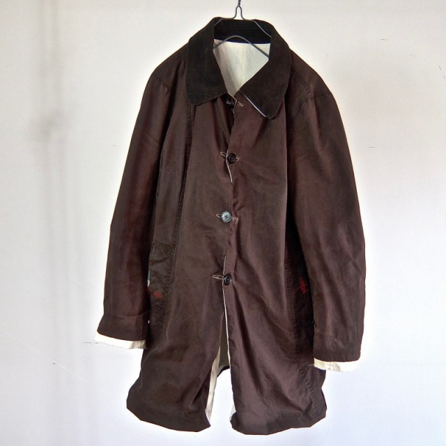 Vintage UNISEX Barbour Waxed Cotton  / Ventile     Reversible Coat