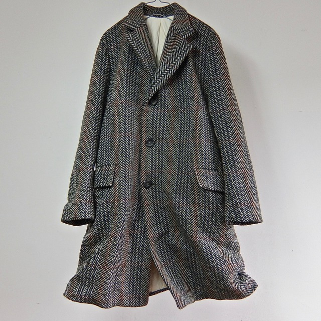 "1950-1960 Vintage  British Tweed Over-coat ""CROMBIE"" of Scotland"