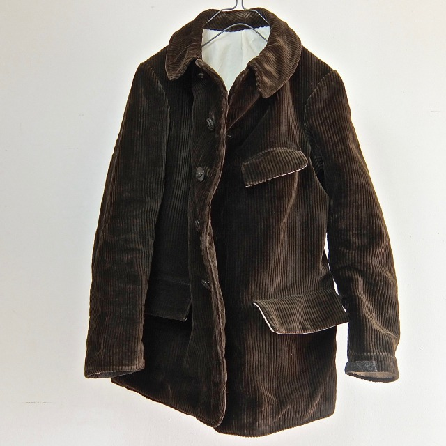 1920-1930  Vintage French Corduroy Hunting Work Chore Jacket