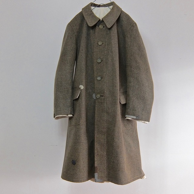 1910-1920 Antique French Chore Worker Paysan Rubber Coating Coat