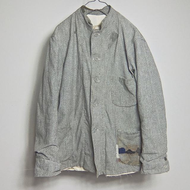 1920-1930 Vintage Salt&Pepper French Work Jacket
