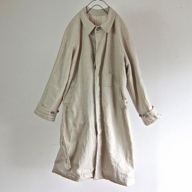 1910-1920 Antique French Linen Chore Work  Duster Coat