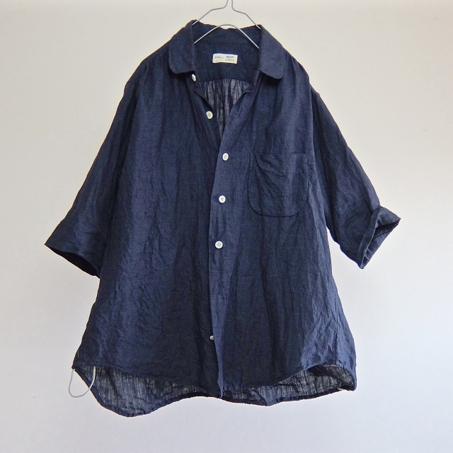 Indigo French Linen Over Shirt