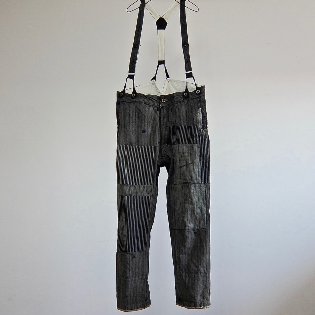 Vintage French  Hard Patch Stripe  Pants