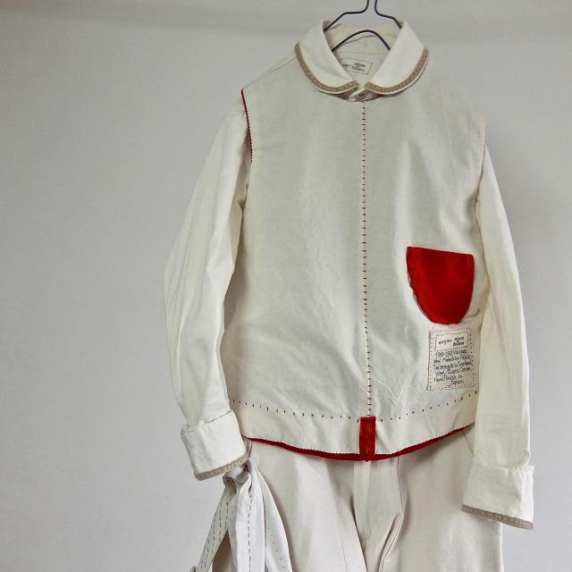1950-1960 Vintage  Wool Moleskin  British Pullover Waistcoat