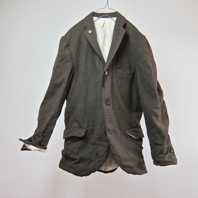 Vintage French Wool/Cashmere Herringbone  Jacket