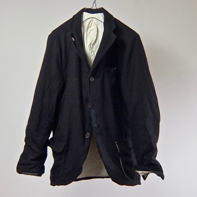 French Chore Worker Wool Flannel Sports Jacket