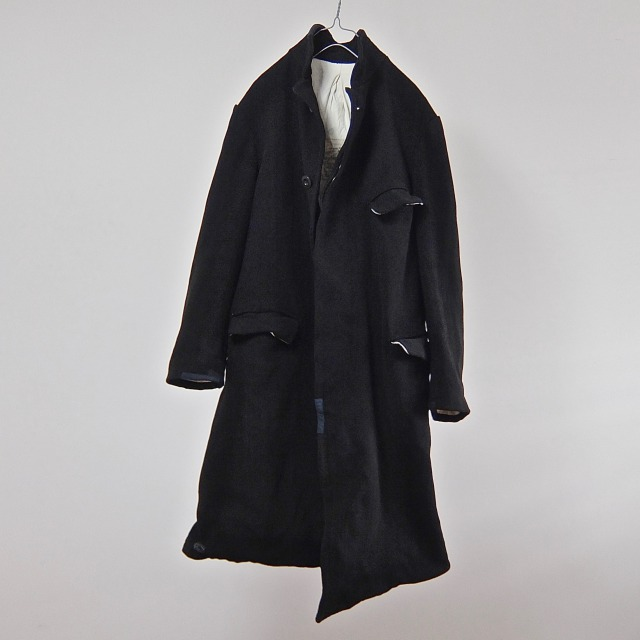 Antique Coachmans Black Striped Wool Coat
