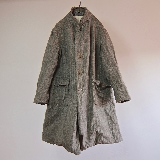 French  Paysanne  Herringbone Tweed Coat