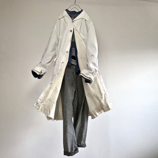 1940-1950 Vintage ALTERATION French Laboratory  Worker Coat