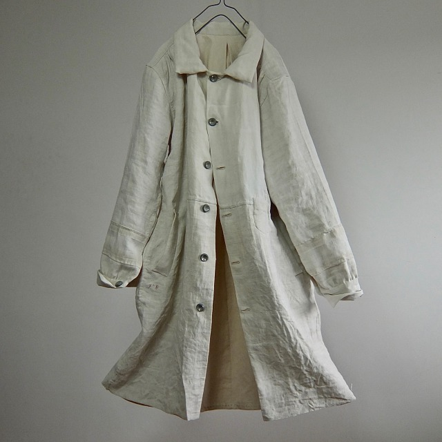 19th Century Antique Pure French  Linen   Paysanne Coat