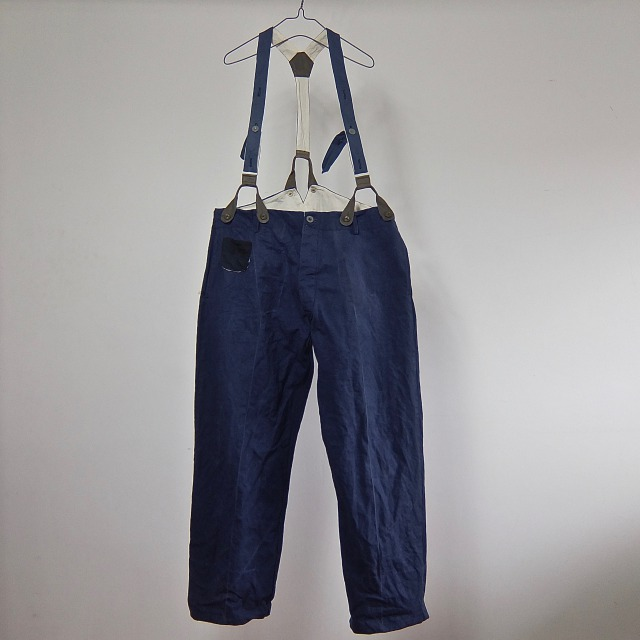 Vintage French  Linen  Indigo  Post man Work Pants