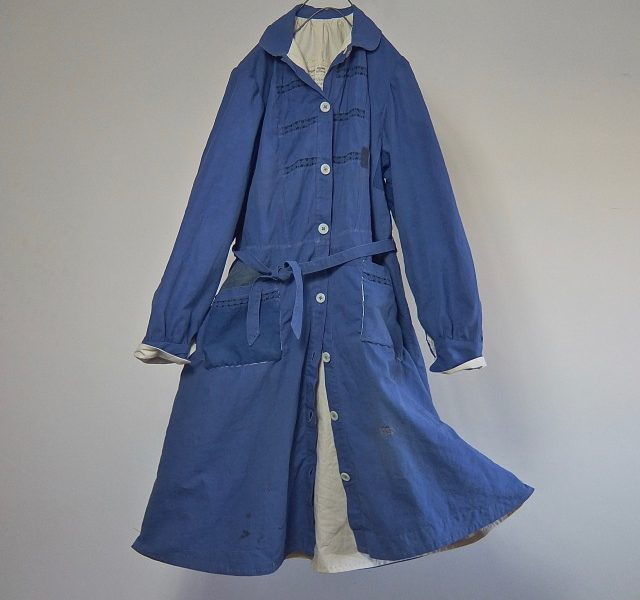 Vintage French Chore Work Worker Dress Coat