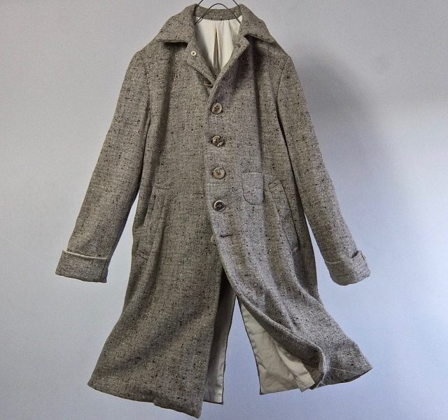 Vintage French Nep Yarn Tweed Classic Style Coat