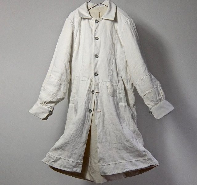19th Century Antique Pure French  Linen   Paysanne Smock Coat