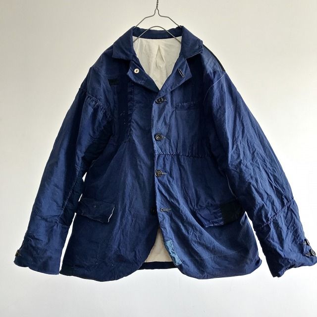 French 1940's Vintage Indigo Dyed Linen Made Jacket