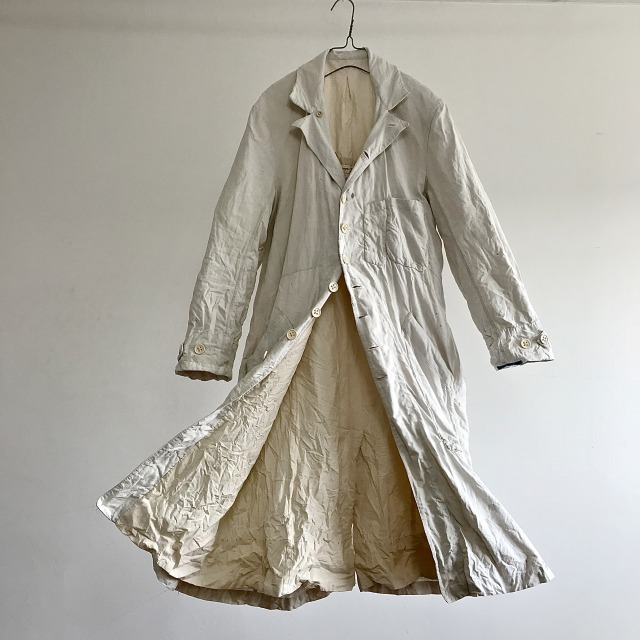 Vintage   Linen French Cattle Dealer Duster Coat