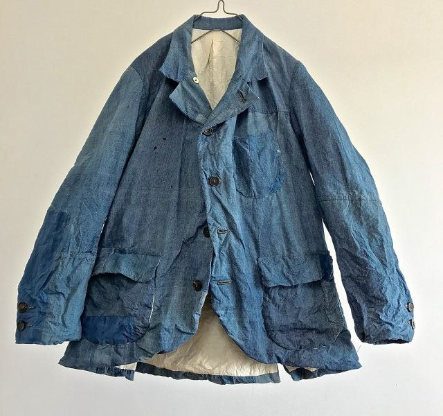 "Vintage Indigo ""End to End Stripe""  Paysan Jacket"