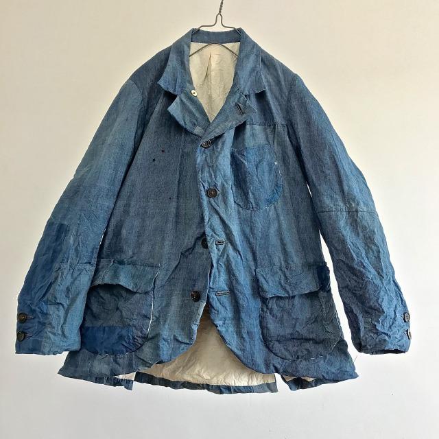 """Vintage Indigo """"End to End Stripe""""  Paysan Jacket"""