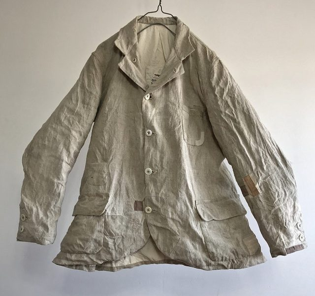 Antique  French Linen Chore Worker Paysan Jacket