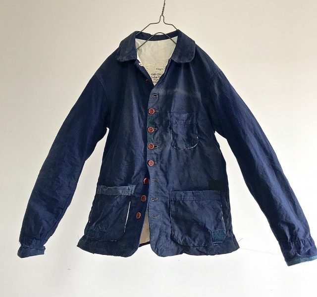Vintage  French Indigo Dyed Linen/Cotton  Worker  Jacket