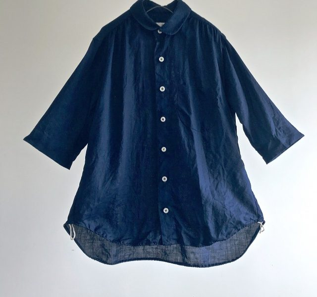 Indigo Dyed French Linen Over Shirt