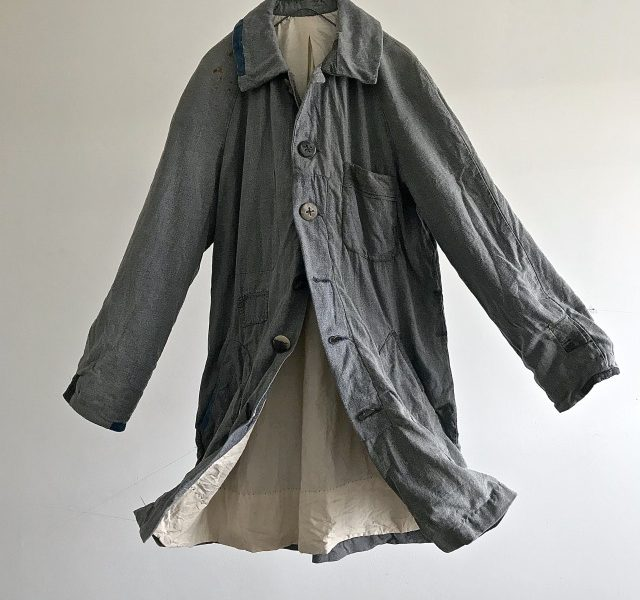 "Vintage  French Chore Work  ""Gris de travails"" Coat"