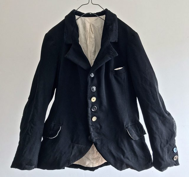 Vintage French Black Doeskin Old Jacket