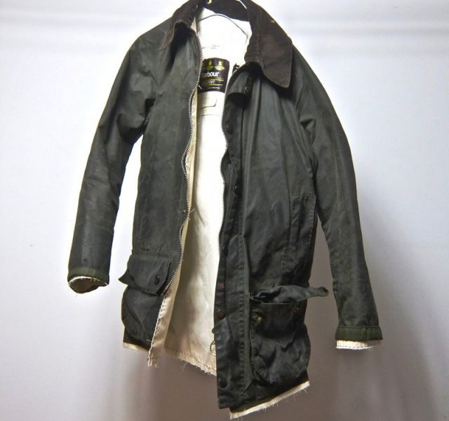 90's Vintage ALTERATION Waxed Cotton Jacket by Barbour