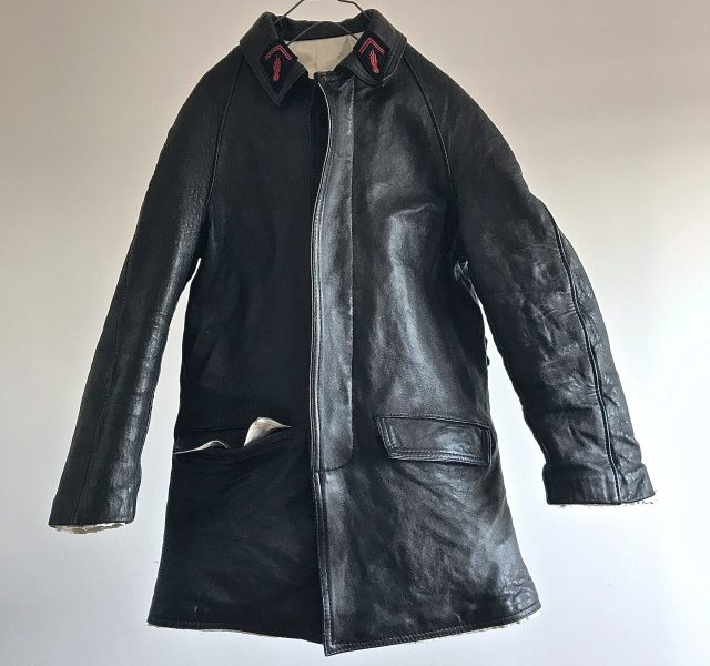 "1950's  Vintage  ""Sapeurs Pompiers de Paris""  Leather Jacket"