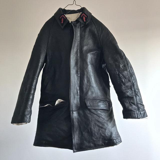 """1950's  Vintage  """"Sapeurs Pompiers de Paris""""  Leather Jacket"""