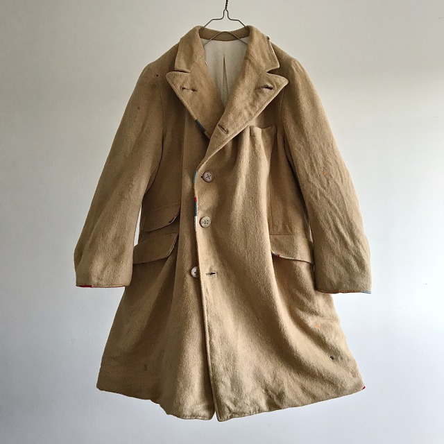 1950-1960 Vintage   Camel Hair Tailor-made Chester Field Coat