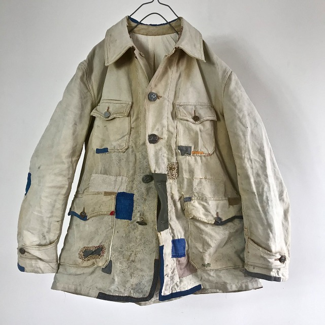 "Vintage French ""Sportic"" Cotton Canvas Hunting Jacket"