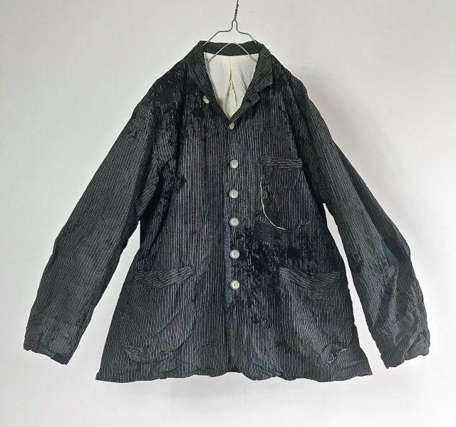 Vintage French  Old Stripe Work Jacket