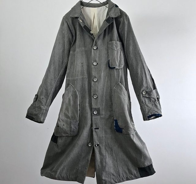 "1940-1950 Vintage  French Chore Work  ""Gris de travails"" Coat"