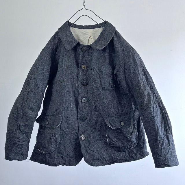 "Vintage Mosaic Patched ""Melange Gris""  Work Jacket"