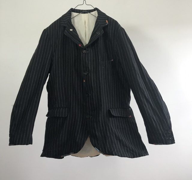Vintage French Striped Linen Made Jacket