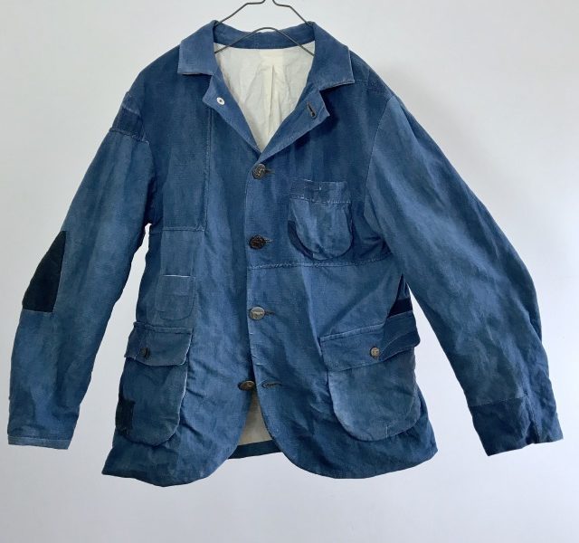 Antique French Indigo Linen/Cotton Metis  Made Jacket
