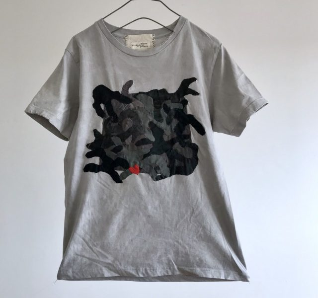 Vintage Cloth Camouflage patch T-shirt  (Dark)