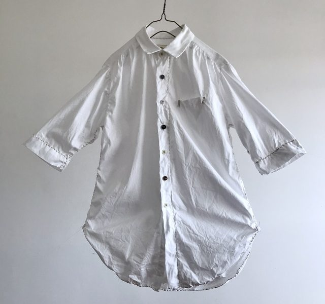 Cotton Oxford  Spiral Stitch Shirt
