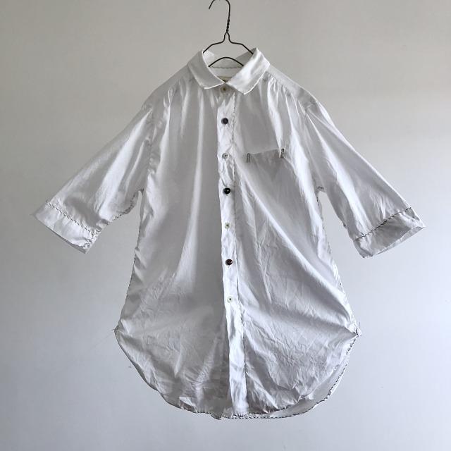 Cotton Oxford  Spiral Stitch Shirt
