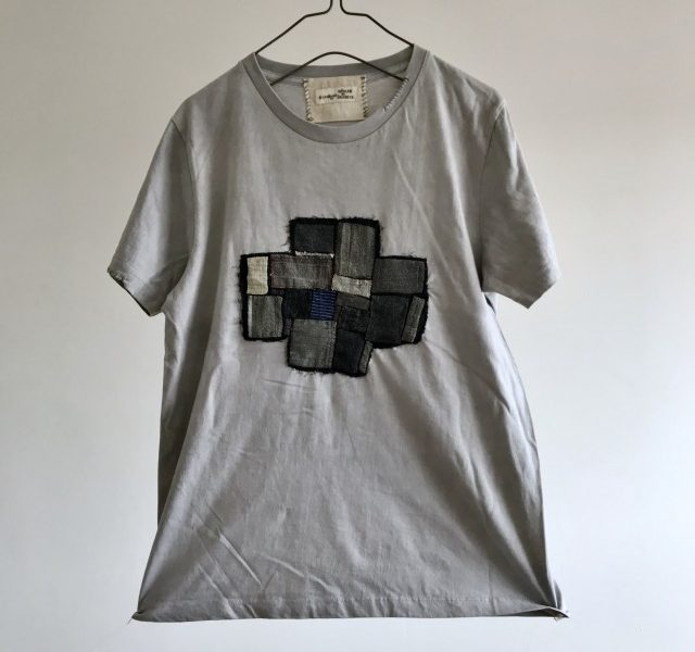"Vintage ""GRIS de Travail"" Fabric Patch  T-Shirts (Dark)"