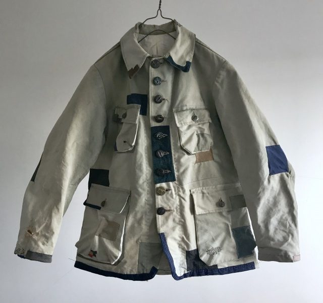 "French Vintage ""Hydro-Air""Canvas Hunting Jacket"