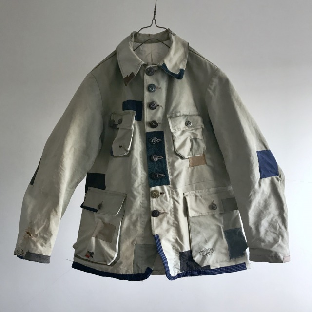 """French Vintage """"Hydro-Air""""Canvas Hunting Jacket"""