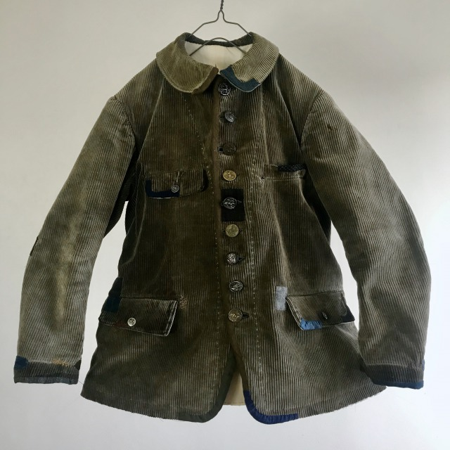 """Vintage French """"Velours d'Amiens"""" made Old Hunting Jacket"""