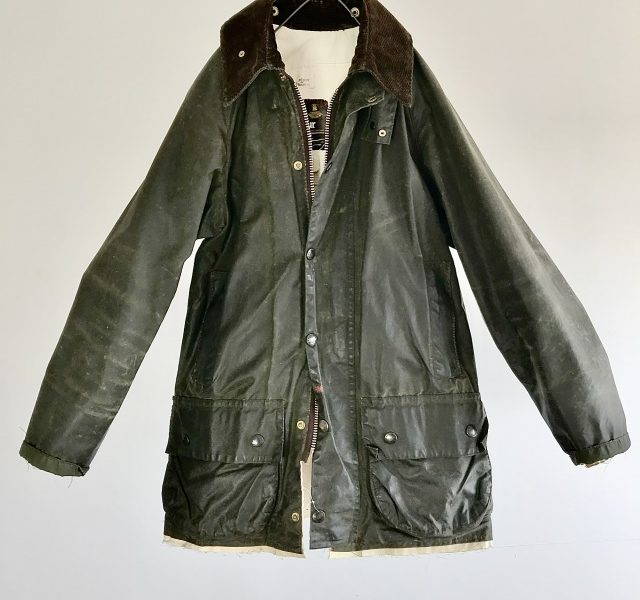 Vintage ALTERATION Waxed Cotton Jacket by Barbour